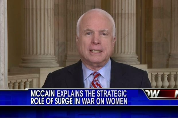 McCain Proposes New 'Surge' Strategy to Win War on Women
