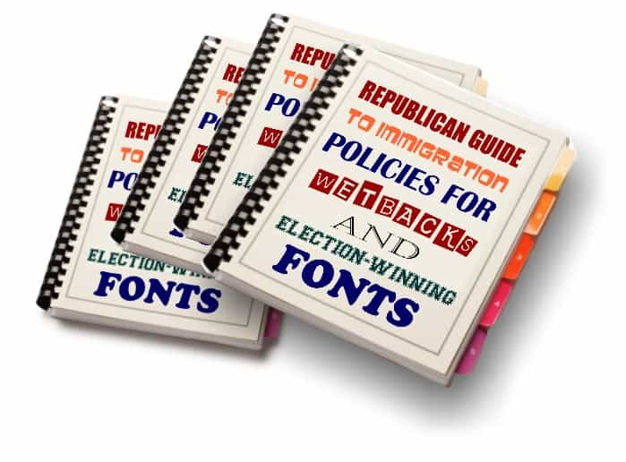 GOP: New Fonts Will Attract Voters