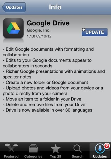 20120910 232114 Google Drive App Gets an Update screenshot