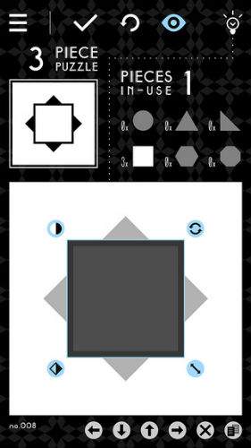 negative shapes ios