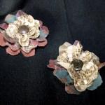 Flores de tela reciclando