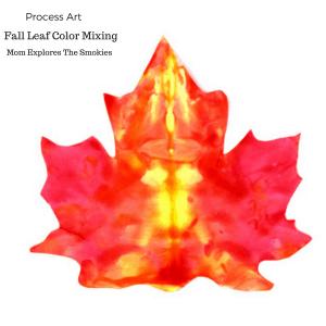 Fall Leaf Color Mixing Process Art