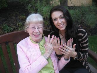 "Norma ""Pinkie"" Hess and Anna Behrends, bonded when Behrends participated in a volunteer program."