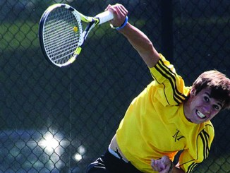 The men's tennis team easily handled the Huskies' players in all of their matches.