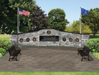 Photo of the proposed memorial (this is an artists' rendering of the proposed site).