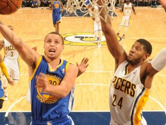 Steph Curry driving for the layup. Photo courtesy of nba.com.