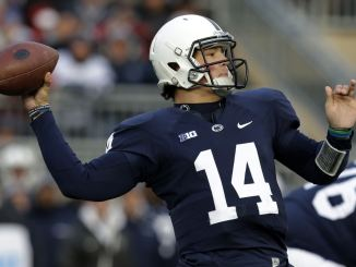 Christian Hackenberg faces the tough decision of possibly leaving for the NFL early. Photo courtesy of nfldraftdiamonds.com.