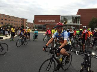 Millersville's third-annual American Dream Ride Scholarship raised over 40,000 dollars. Photo courtesy of Millersville University.