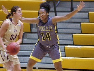 Courtney Hinnant scored 16 points and grabbed 6 rebounds en route to a victory. (Photo Courtesy of MU Athletics)
