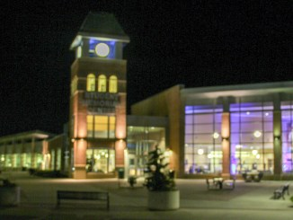 The SMC was lit up blue for Autism Awareness Month. (Julia Snyder/The Snapper)
