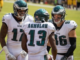 Nelson Agholor, Alshon Jeffery and Zach Ertz have been the go-to targets for Carson Wentz and Nick Foles this season. Photo courtesy Wikpedia