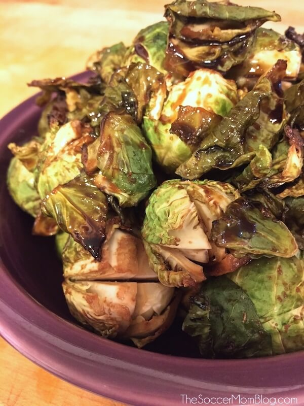 "Simple & sweet, with just the right amount of crispy -- once you see how easy these ""famous"" roasted Brussels Sprouts are to make, they will be your new favorite side dish!"