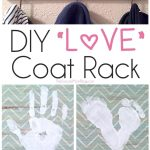 DIY LOVE Footprint & Handprint Coat Rack