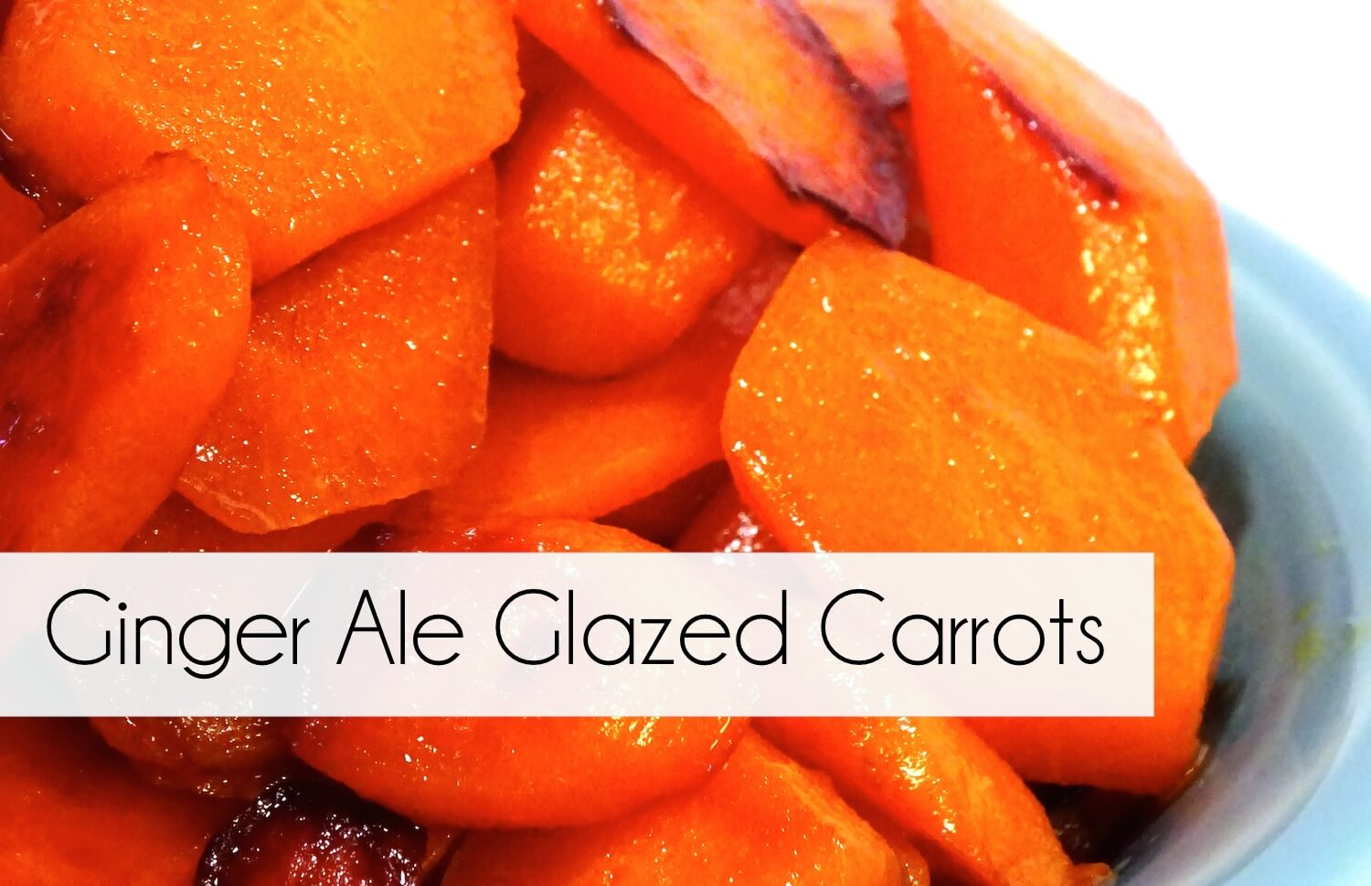 How to make amazing sweet & savory Glazed Carrots with only a can of ginger ale. An awesome, (and easy!) side dish that will leave no leftovers!