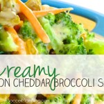 Creamy Bacon Cheddar Broccoli Salad