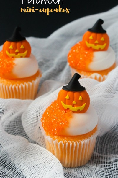 Creamsicle-flavored Mini Orange Halloween Cupcakes
