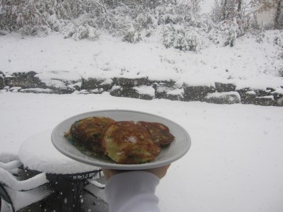 I don't want to go back to the city. I just want to stay in the house and make birthday cake pancakes while it snows!