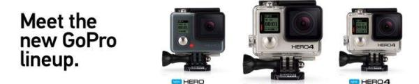 The wide range of GoPro cameras! for taking the ultimate action and travel images!