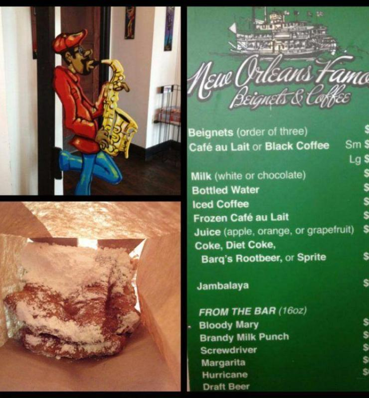 Eating in New Orleans: New Orleans Famous Beignets & Coffee.