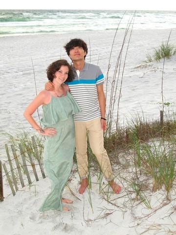 Seagrove, Florida with the family, Hallie & Jae-oo