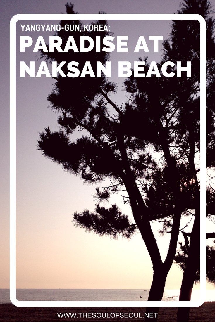 Yangyang-gun, Korea Paradise on Naksan Beach