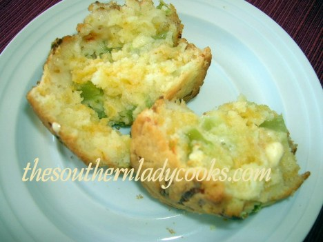 Green Tomato Muffins with Cheese 2 - Copy