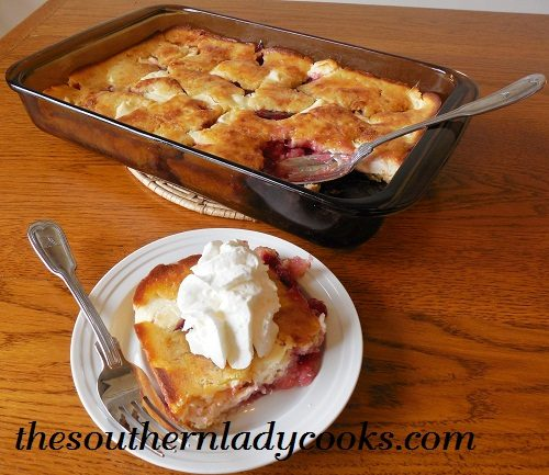 The southern lady cooks cherry cream cheese cobbler for Pie iron recipes with crescent rolls