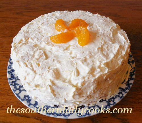 The Southern Lady Cooks – MANDARIN ORANGE CAKE