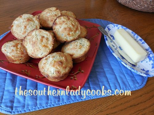 Cheesy Zucchini Cornbread Muffins TSLC
