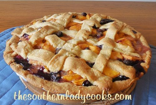 Fresh Peach and Blueberry Pie TSLC