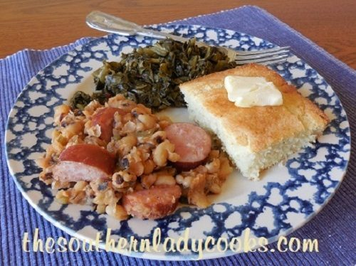 Baked Black-Eyed Peas and Smokied Sausage TSLC - Copy