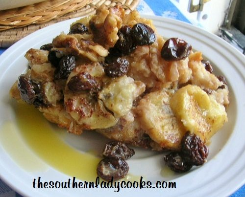 Banana Bread Pudding with Rum Sauce 2 - Copy (2)