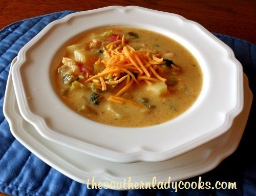 Chicken, Potatoes and Broccoli Soup -TSLC - Copy
