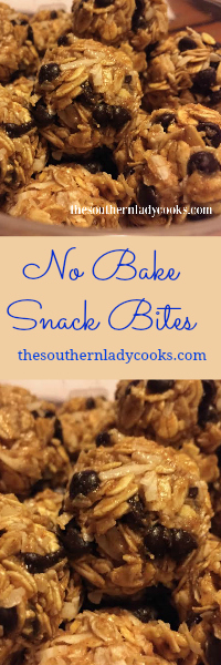 The Southern Lady Cooks No Bake Snack Bites - Light Recipe