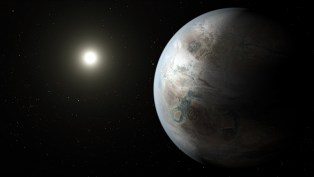 A artist's concept of Kepler-452b, a near-Earth-sized planet discovered by the Kepler space telescope. Courtesy NASA/Kepler