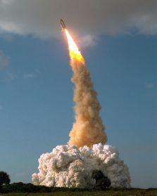 Hubble Space Telescope launch.