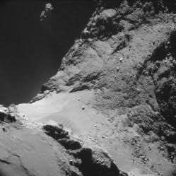 UP close and personal with Comet 67P/Churyumov-Gerasimenko.  Courtesy Rosetta/ESA.