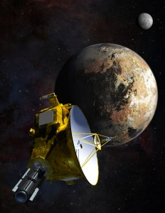 New Horizons, Pluto, and Charon (artist's concept). Courtesy NASA.