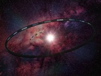 An artist's concept of a Ring World around a star, a concept written about by SF writer Larry Niven. Image Courtesy Hill, CC By-SA 3.0.