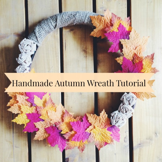 Handmade Autumn Wreath Tutorial