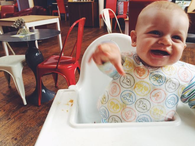 Eating out at 8 months