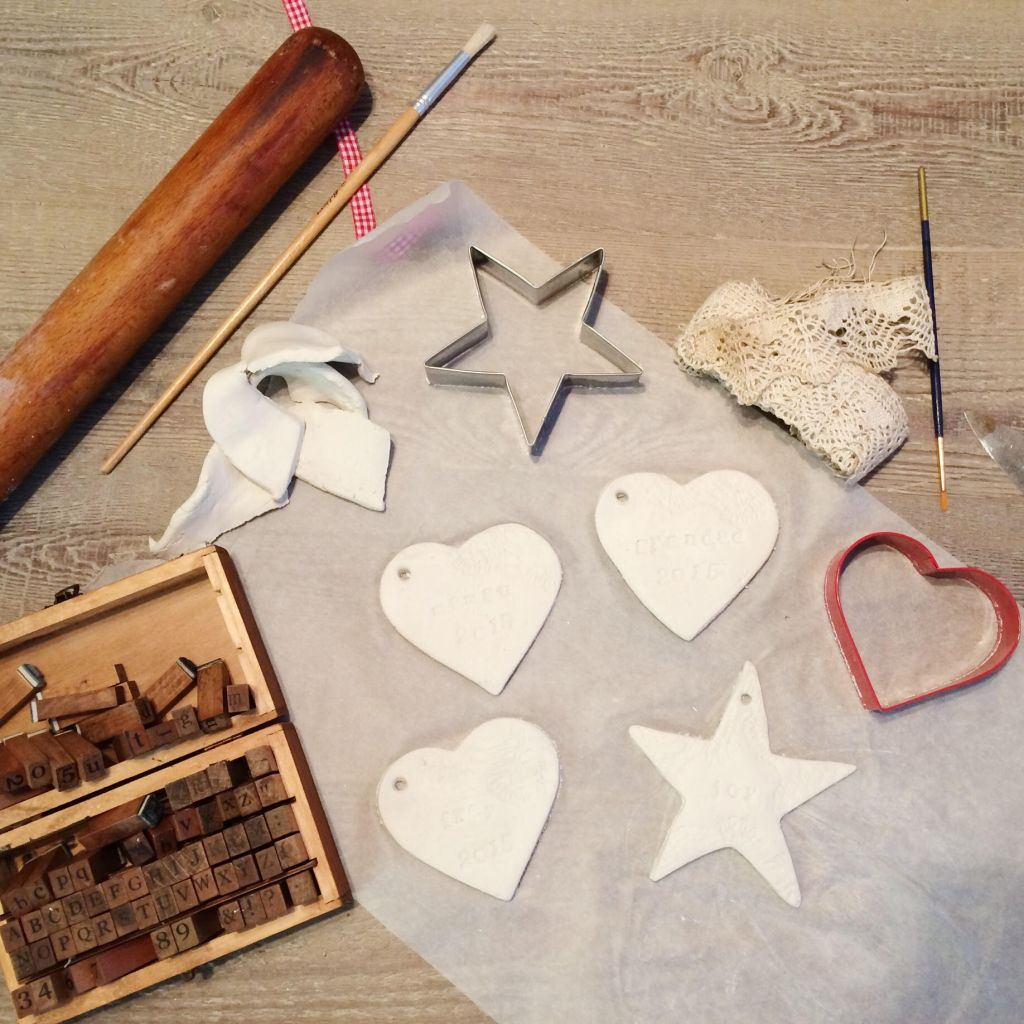 Home made clay ornaments