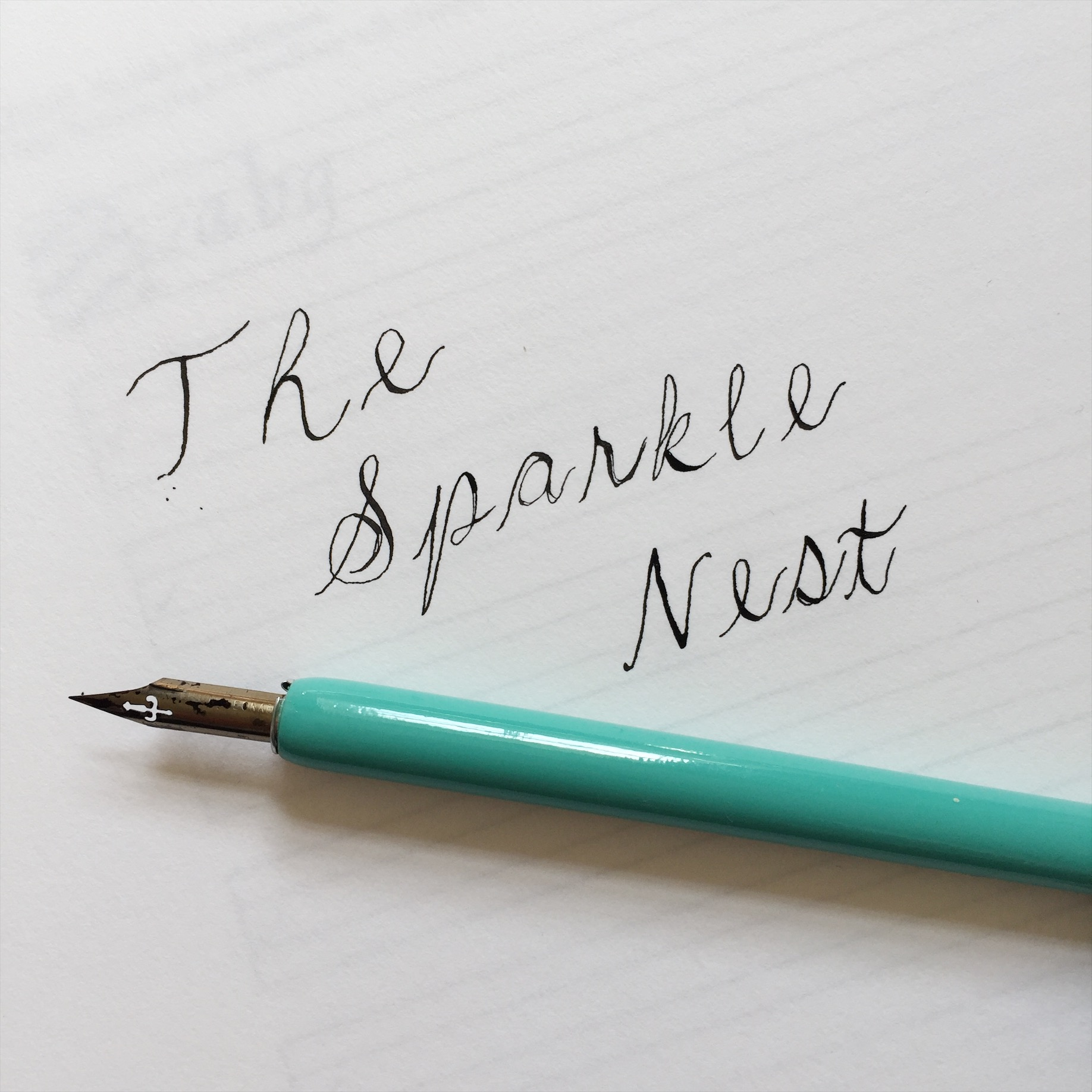 The Sparkle Nest Calligraphy