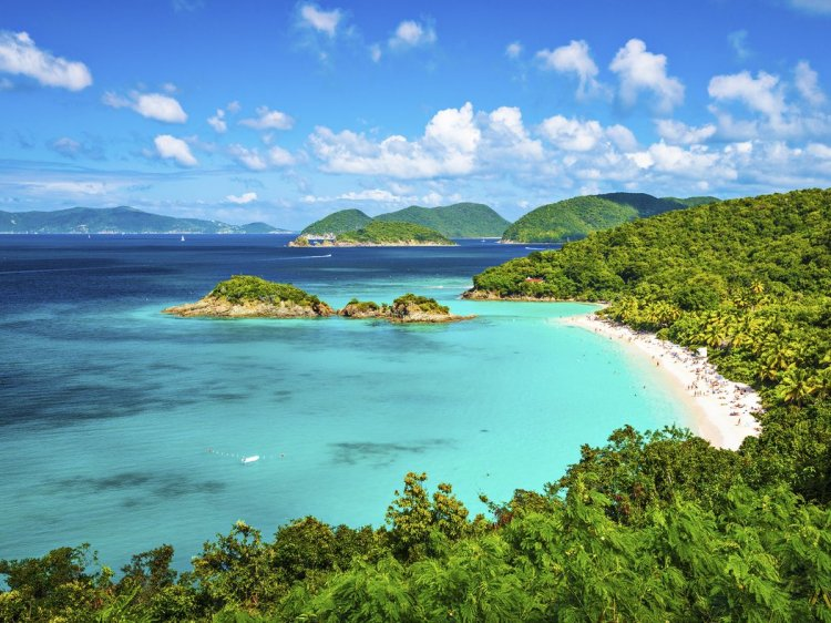 St. John, USVI Overall Rating: 80.939 This small isle in the Caribbean Sea hasn't been overrun by development, thanks to the fact that two-thirds of the landmass is national parkland. It makes an ideal getaway for hikers seeking out jungle trails and snorkelers who'll nose down over the surrounding reefs. Pro tip: With its shallow, turquoise water and soft sand, St. John's Trunk Bay is often counted among the finest beaches in the world. Explore the diverse marine life with a snorkeling expedition along the Underwater Trail through a coral reef.
