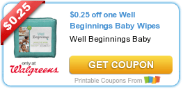 Well Beginnings Diaper & Wipes Coupons + Walgreens Deal Scenarios