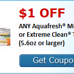 $1 Aquafresh Toothpaste Coupon