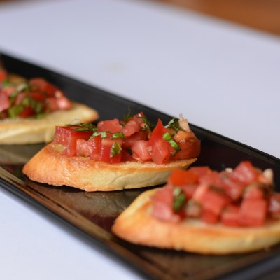 Balsamic Basil Bruschetta