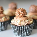 Ferrero Rocher Cupcakes with Nutella Buttercream