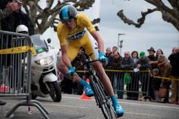 Christopher Froome racing the fifth stage (time trial) of Tour de Romandie 2013 in Genava. By Thortuck (Own work) [CC BY-SA 3.0 (http://creativecommons.org/licenses/by-sa/3.0)], via Wikimedia Commons