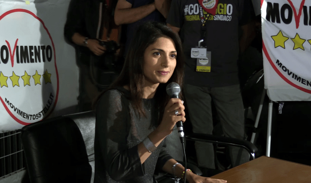 Rome Mayor Virginia Raggi. By Movimento 5 Stelle [CC BY 3.0 (http://creativecommons.org/licenses/by/3.0)], via Wikimedia Commons